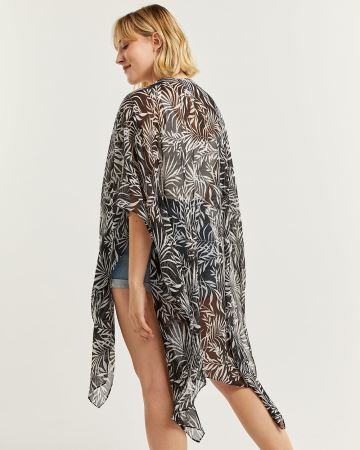 Printed Beach Cover-Up