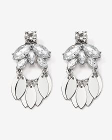 Crystal and Pendant Earrings