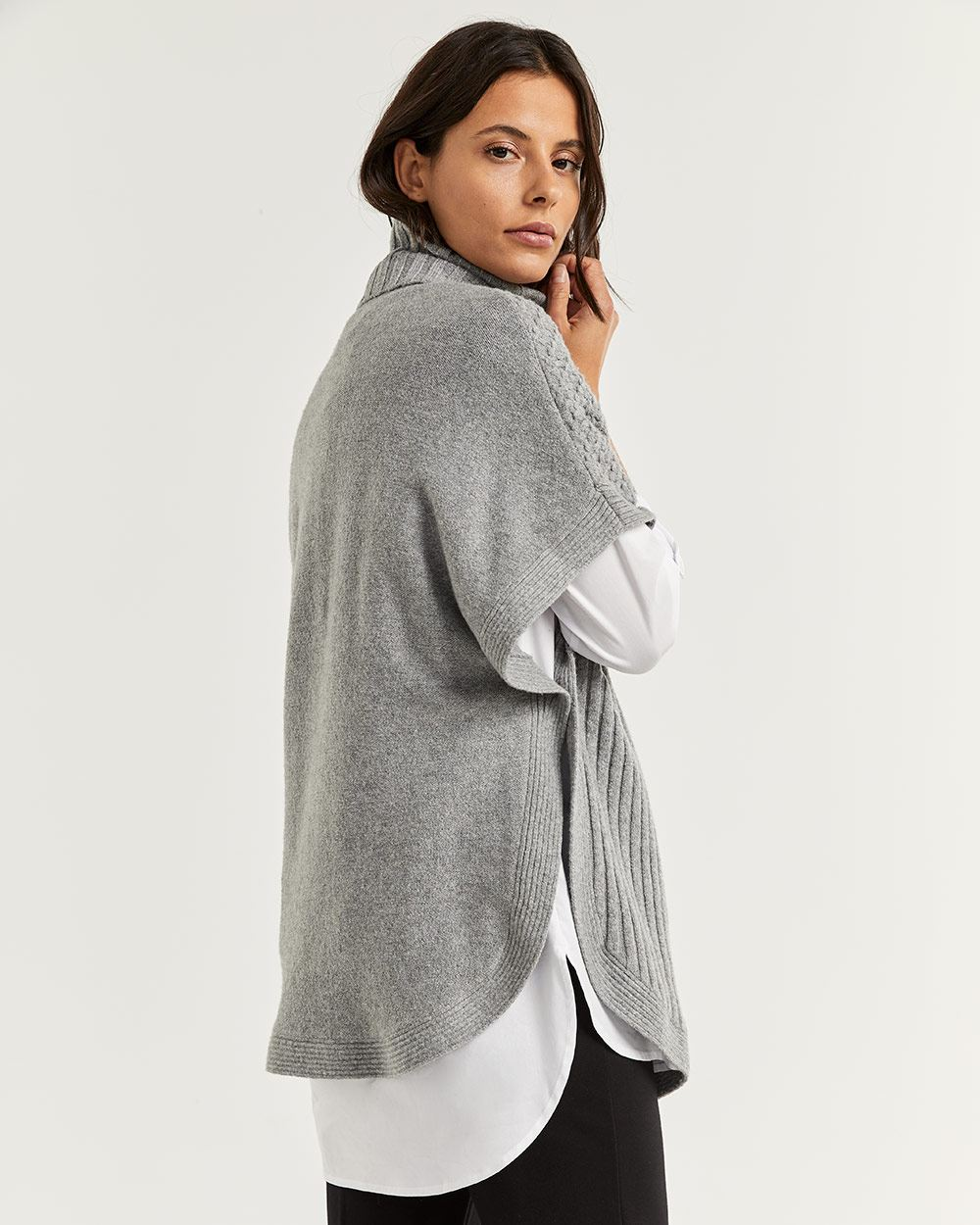 Turtleneck Cape Sweater
