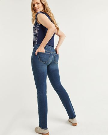 Straight Pull On Jeans The Original Comfort - Petite