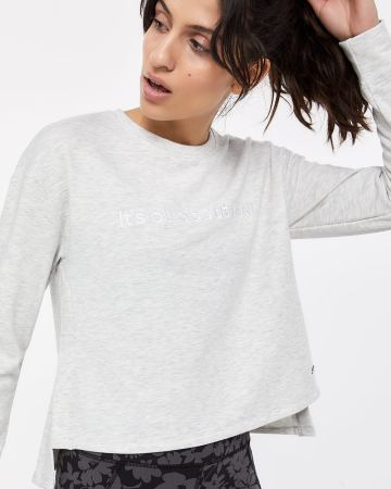 Hyba Embroidered Long Sleeve Sweatshirt