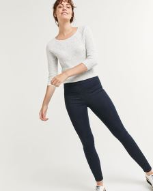 High Rise Denim Pull On Leggings