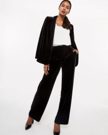 Tall Velvet Wide Leg Pants
