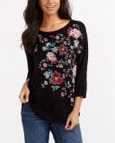 Dolman Sleeve Printed Top