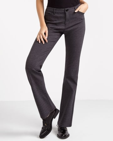 Petite Boot Cut Exact Stretch Pants with Pattern