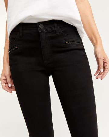Black Skinny Jeans with Zip Details
