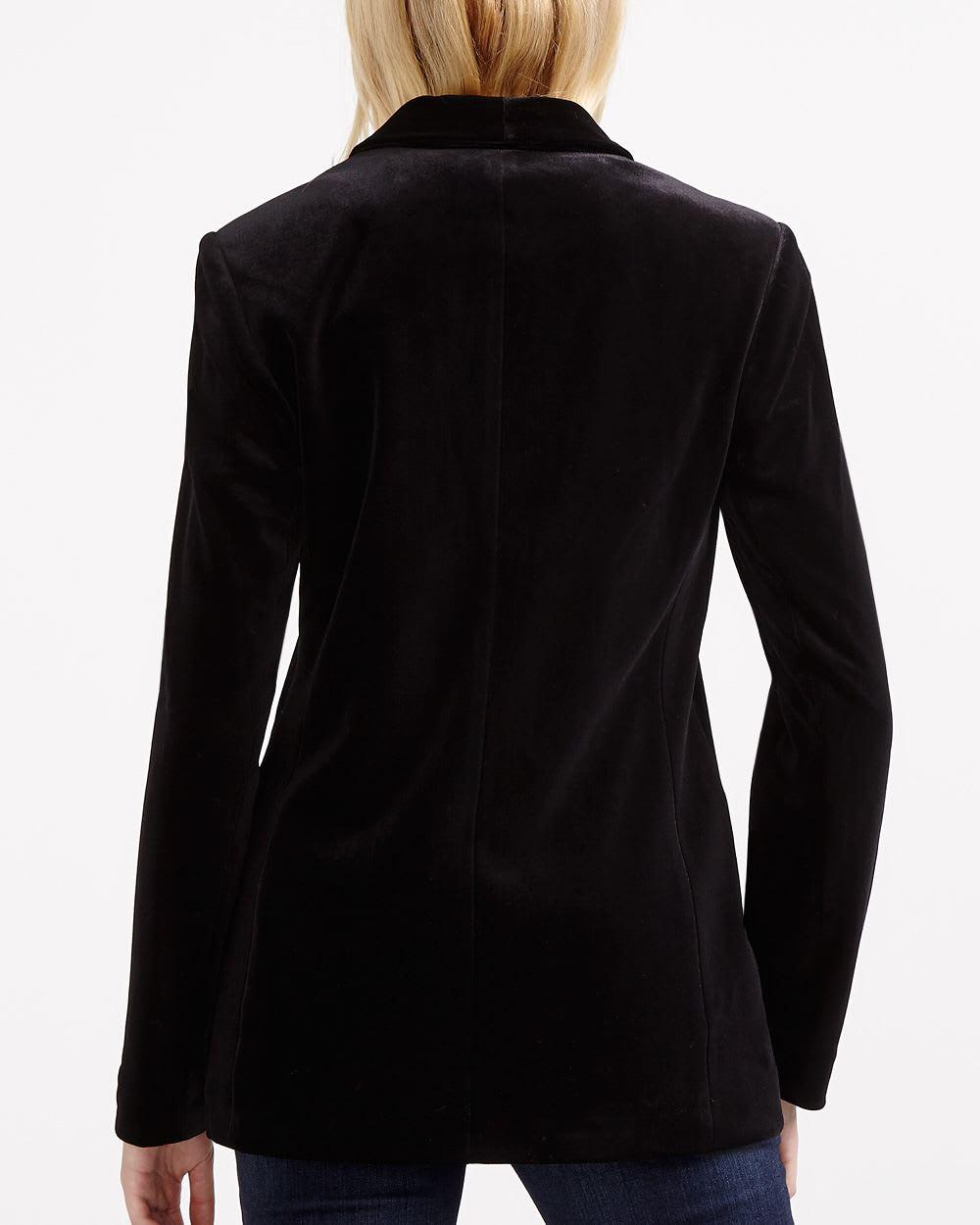 2f3a634af6a Long Sleeve Velvet Blazer