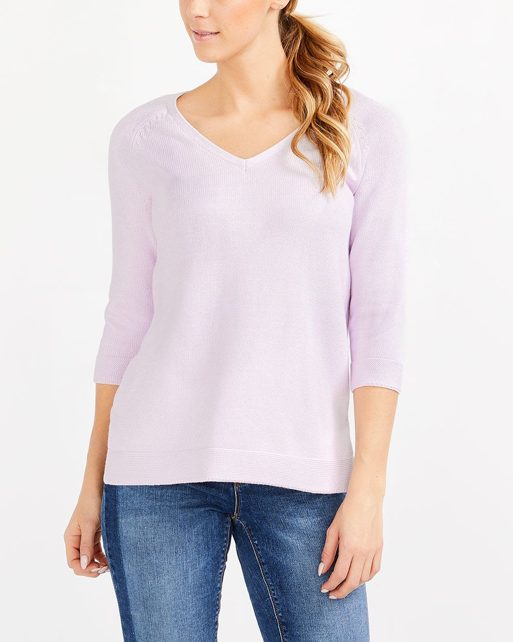 ¾ Raglan Sleeve Sweater