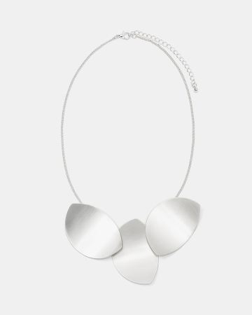 Satin Finish Statement Necklace