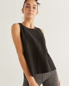 Hyba Sleeveless Black Tank