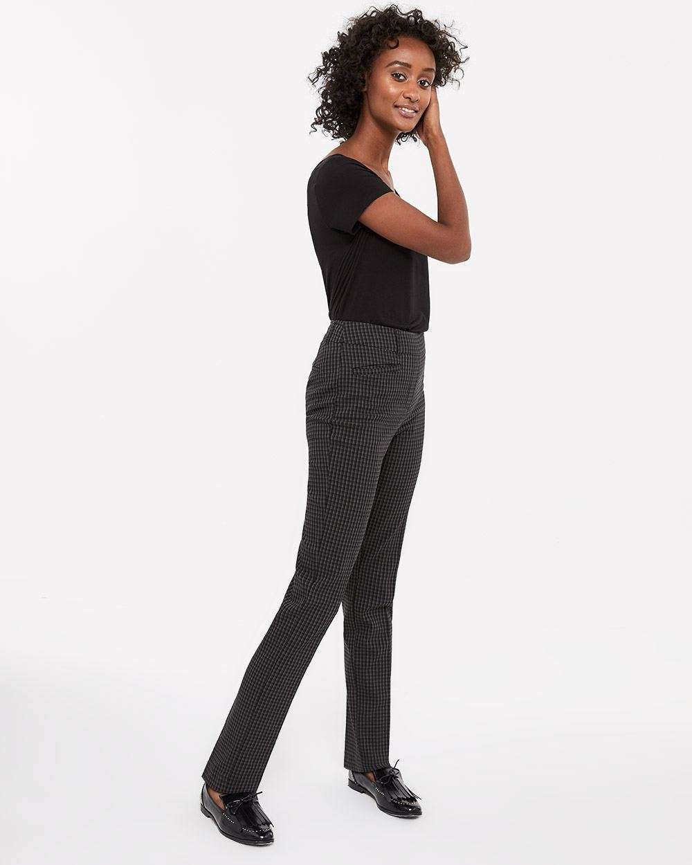 The Tall Iconic Straight Leg Pattern Pants