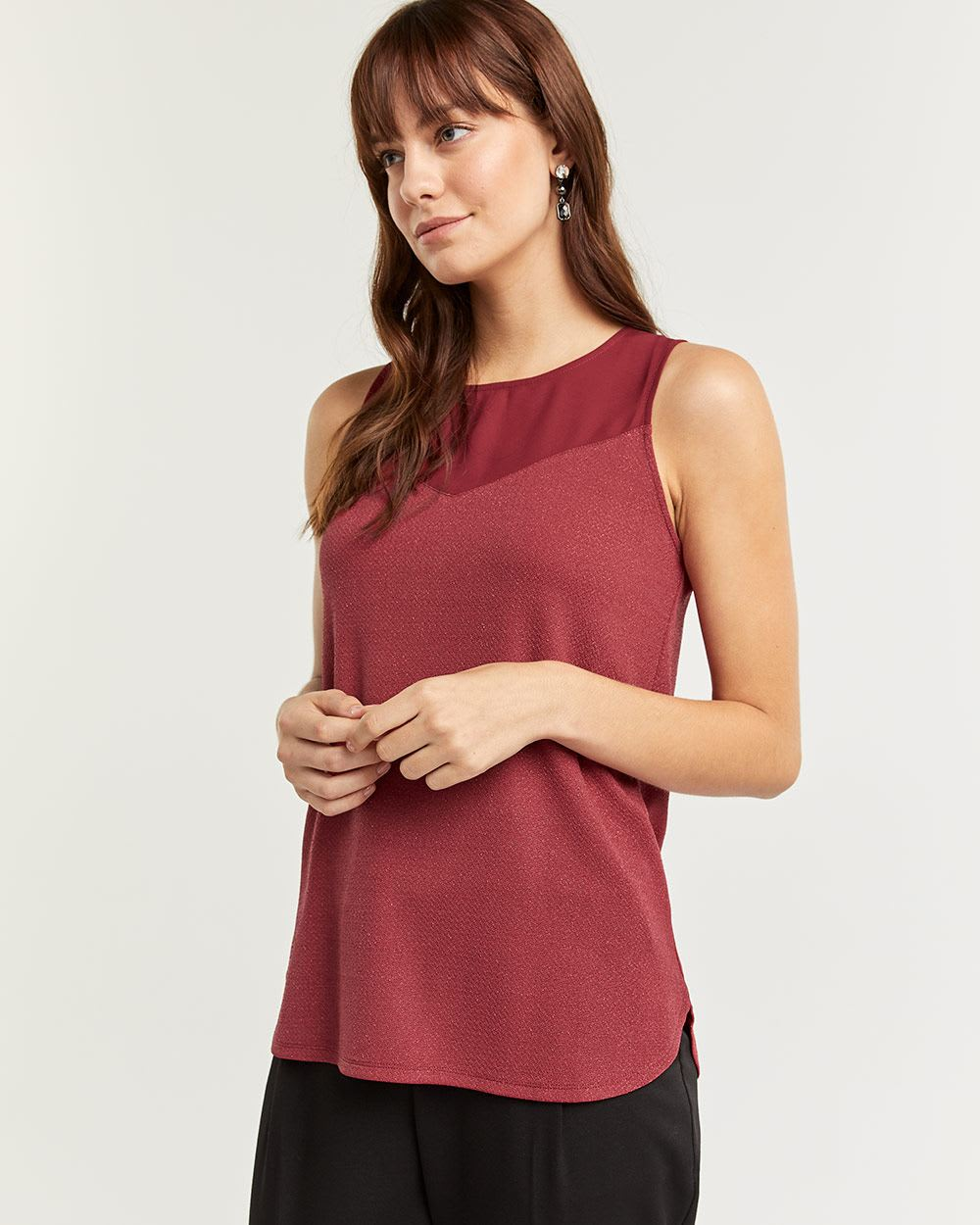 Sleeveless Shimmer Top