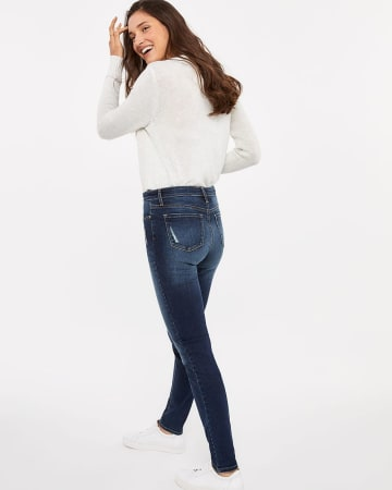 The Tall Insider Rip and Repair Medium Wash Skinny Jeans