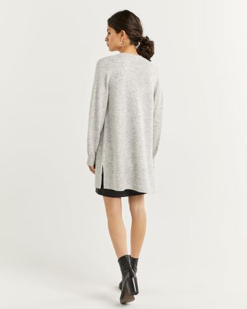 Nep Yarn Long Sleeve Cardigan