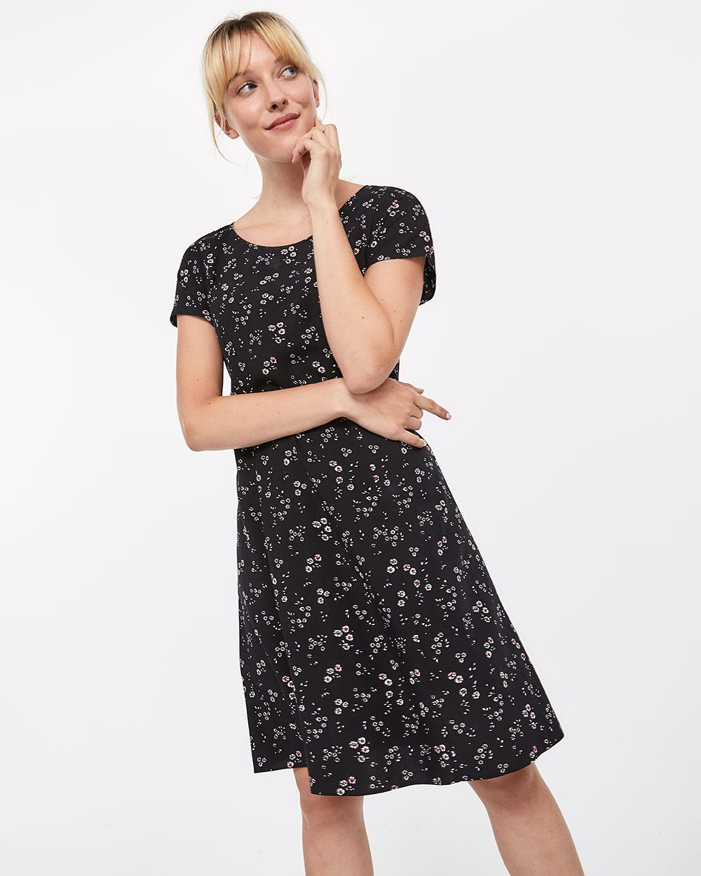 e8515eb79db03 Laced-up Back Swing Dress | Regular | Reitmans