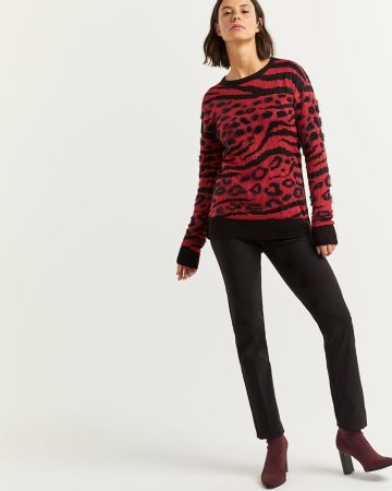 Textured Animal Pattern Sweater