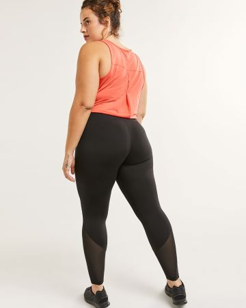 High Rise Leggings with Mesh Inserts Hyba