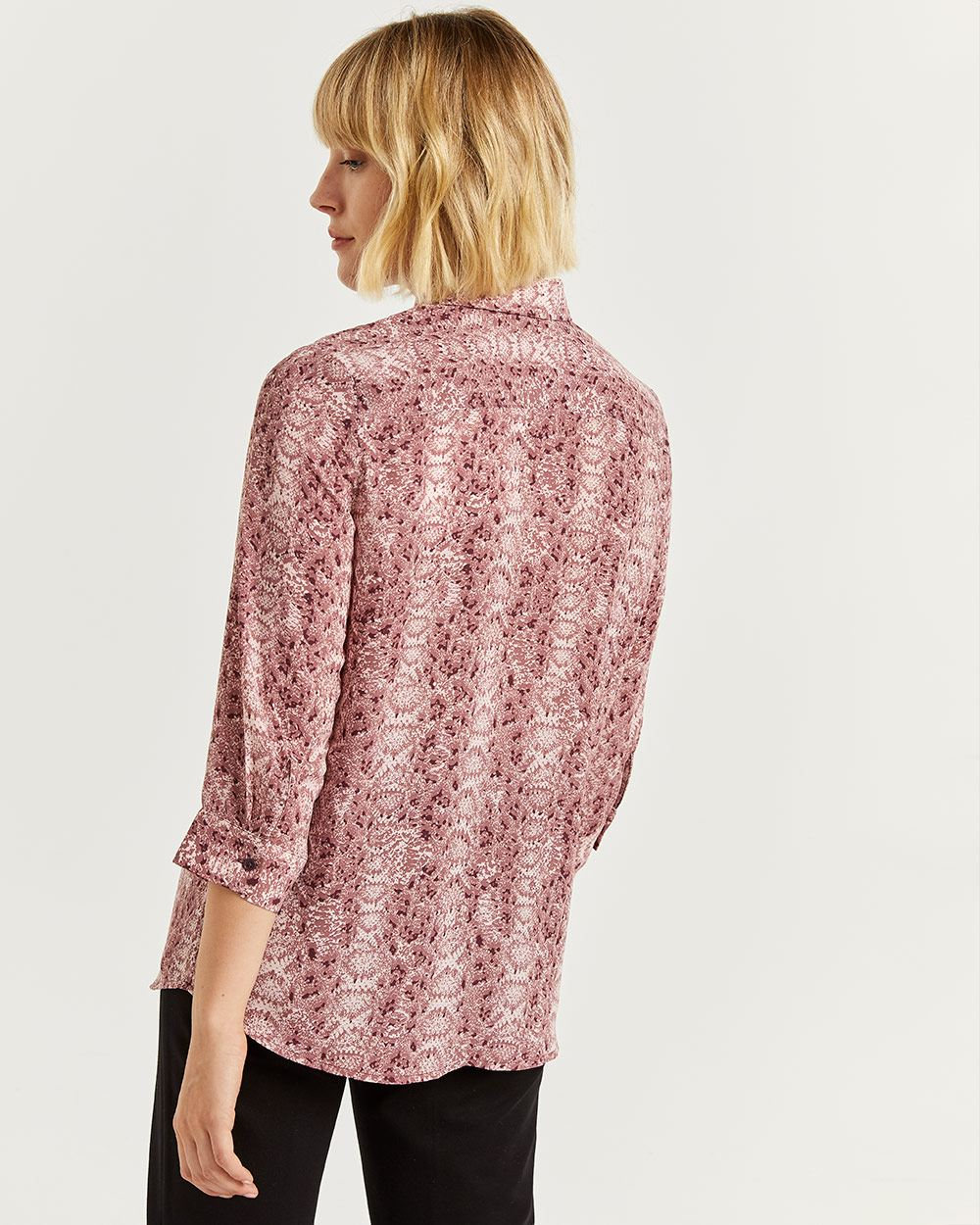 3/4 Sleeve Printed Shirt