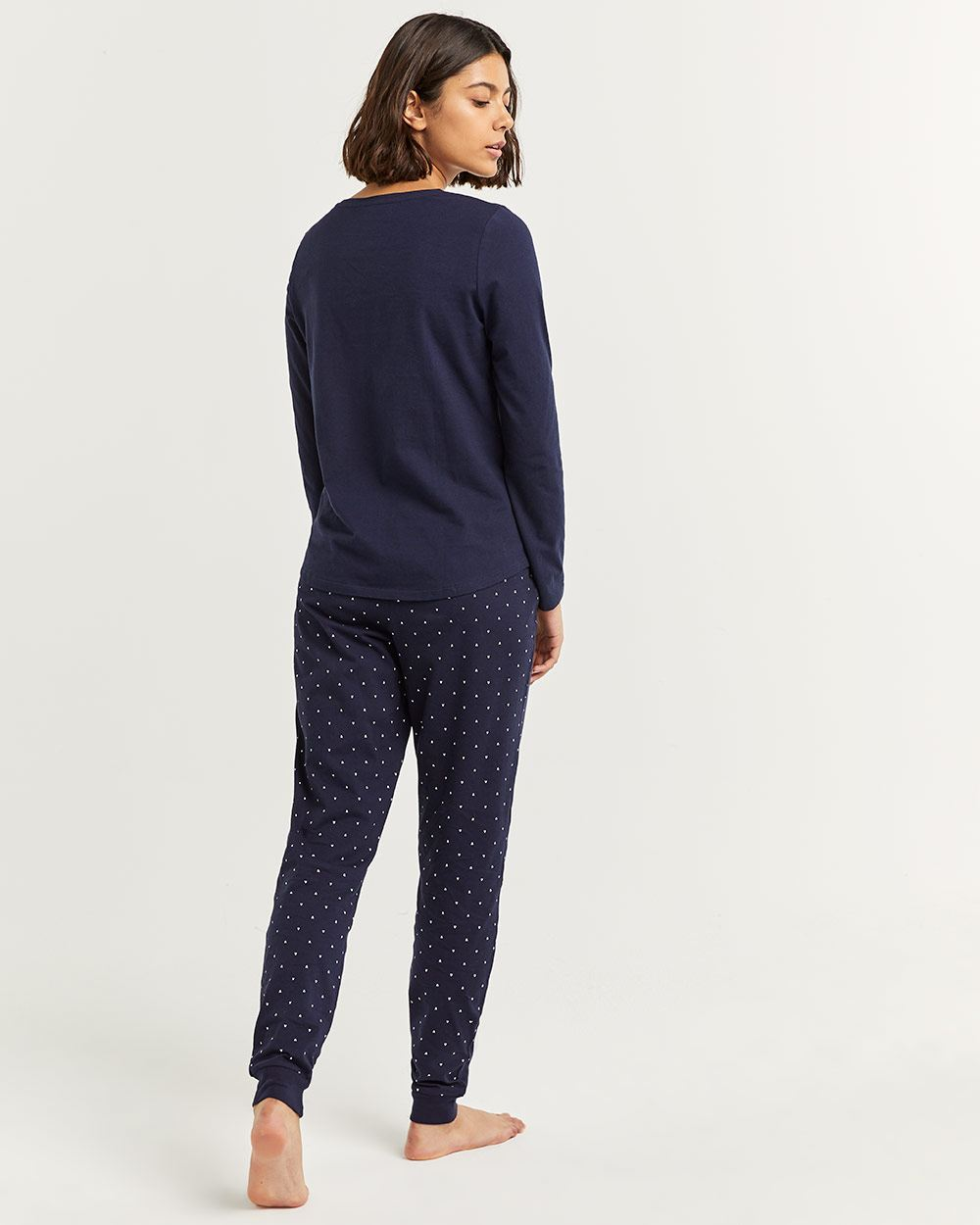 Cotton Pyjama Set with Joggers Pants
