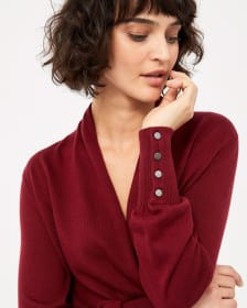 Wrap Sweater with Buttons