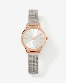 2-tone Mesh Wristband Watch