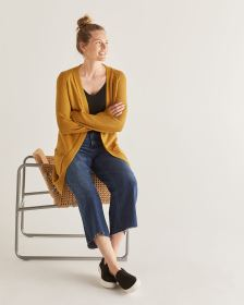 Loose Open Cardigan with Front Pockets