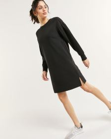 Long Puff Sleeve Sweatshirt Dress