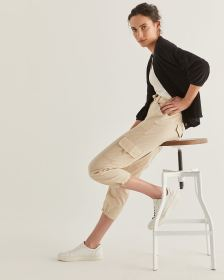 Cotton Cropped Cargo Pant