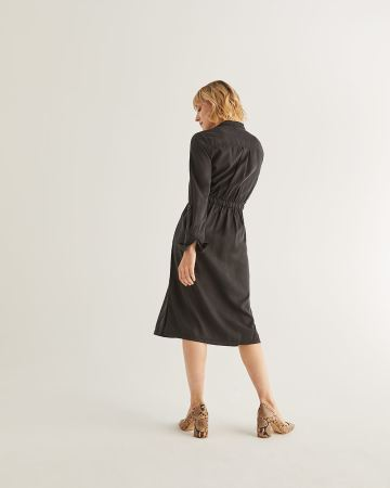 Tencel Midi Dress with Pockets