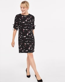 Willow & Thread Printed Dress with 3/4 Sleeves