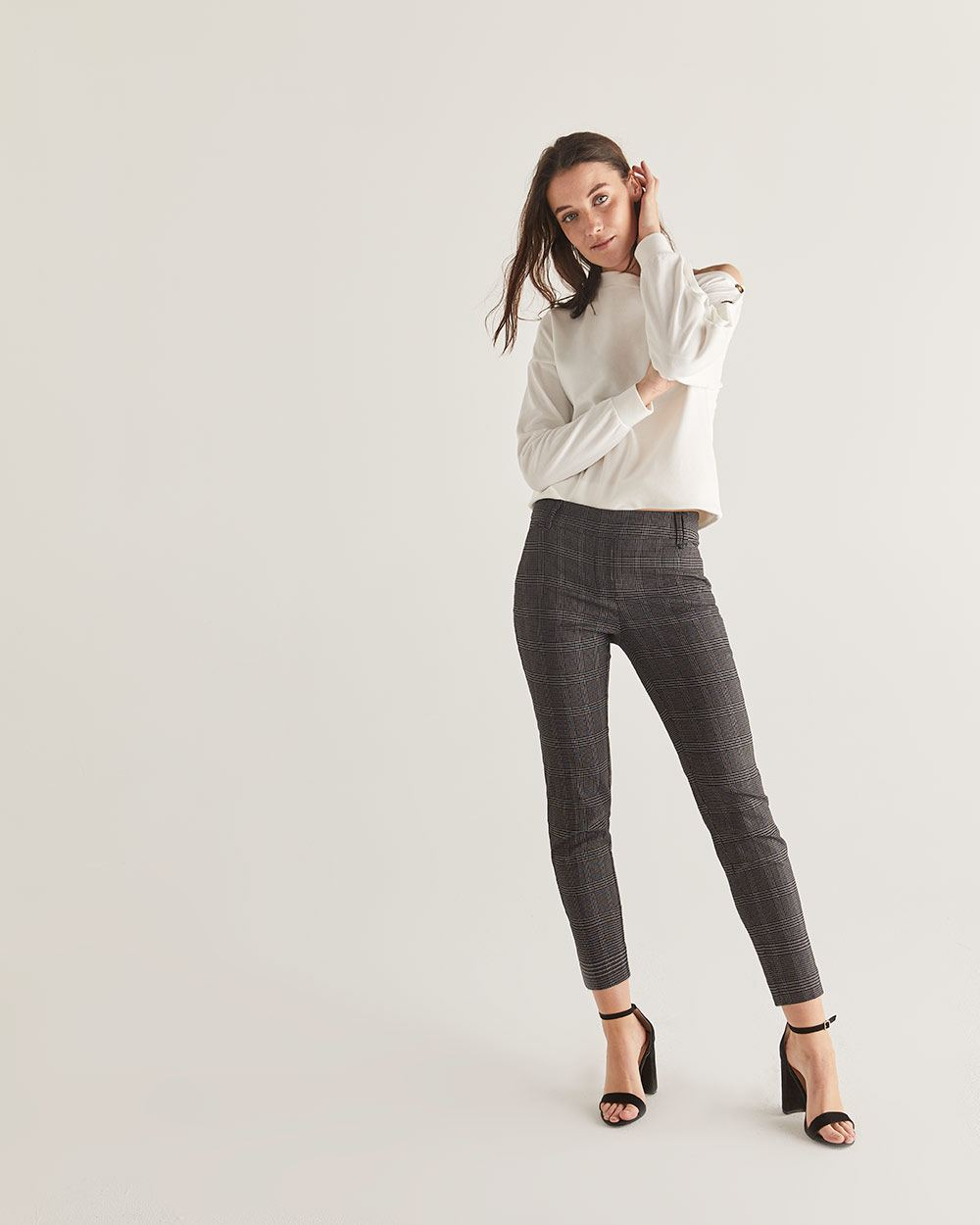 The Iconic Plaid Pull On Ankle Pants