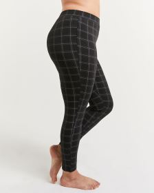 Cotton Blend Ultimate Comfort Windowpane Leggings