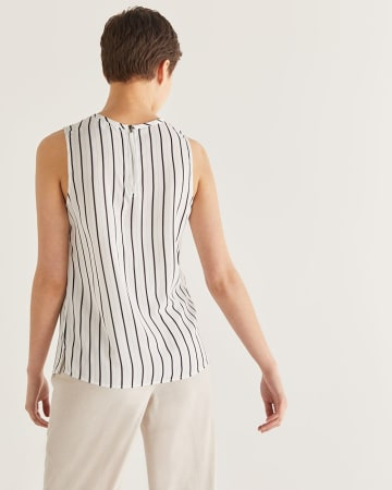 Willow & Thread Striped Sleeveless Blouse