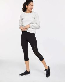 Hyba Perforated Capri Legging