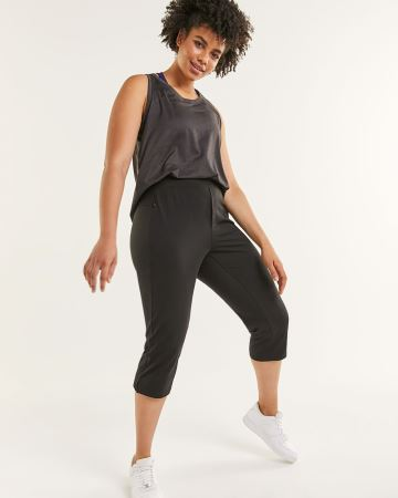 Pull On Capri Pants with Pockets Hyba