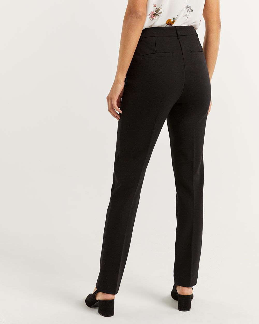 Black Straight Pull On Pants The Modern Stretch