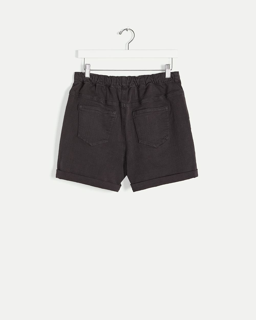 Super High Rise Shorts with Elastic Waist