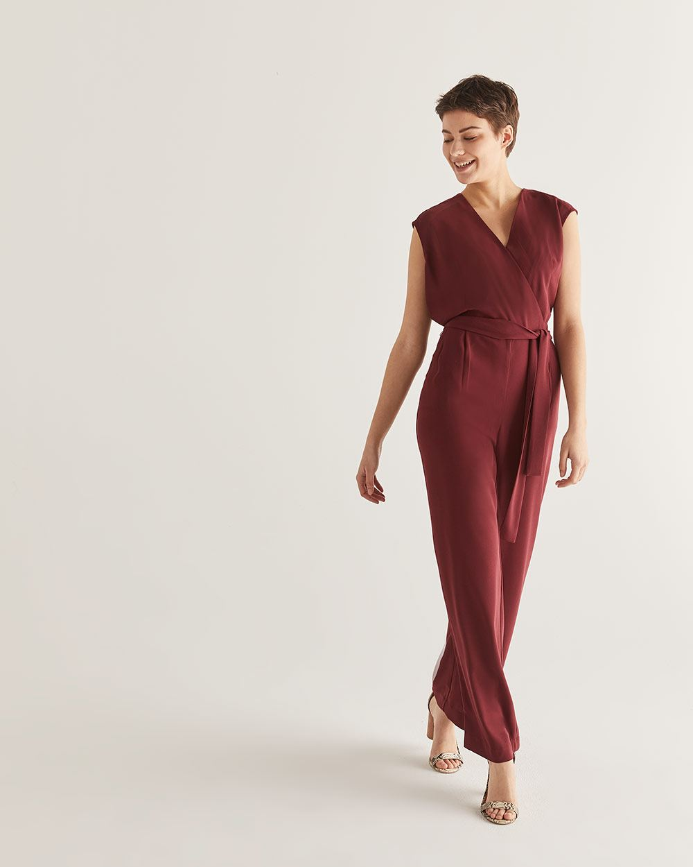 Willow & Thread Wrap Jumpsuit with Sash