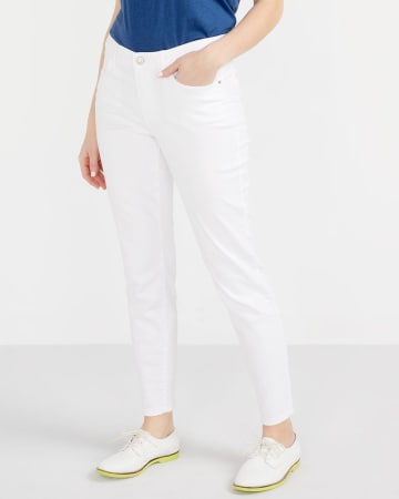 The Petite Insider White Ankle Jeans