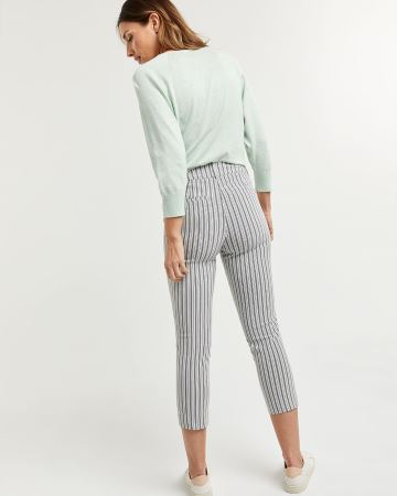 Striped Cropped Slim Pants The Iconic