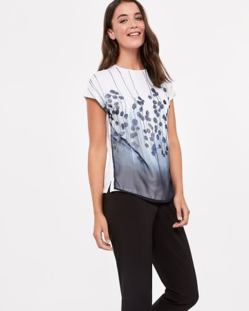 Willow & Thread Printed Mix Media Tee