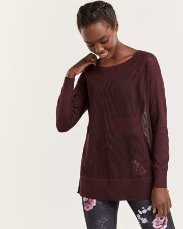Hyba Long Sleeve Open Stitch Sweater