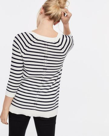 Raglan Sleeve Stripe Sweater
