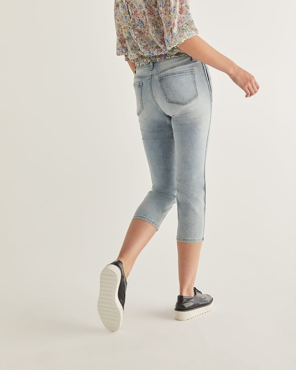 The Insider Cropped Skinny Jeans with Side Band