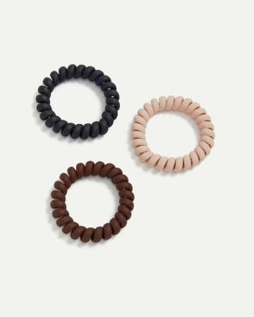 3-Pack Spiral Matte Hair Ties