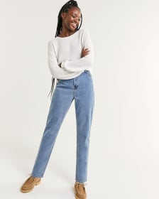 Super High Rise Slim Mom Jeans