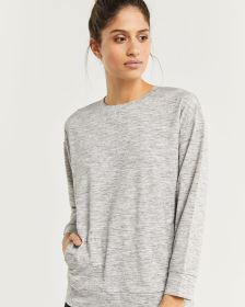 Heathered Sweater with Pockets Hyba