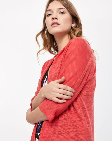 3/4 Sleeve Open Cardigan