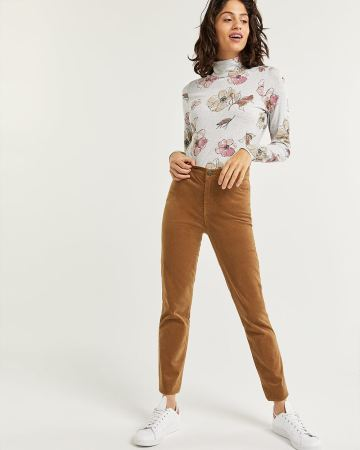 Corduroy High Waist Skinny Pants