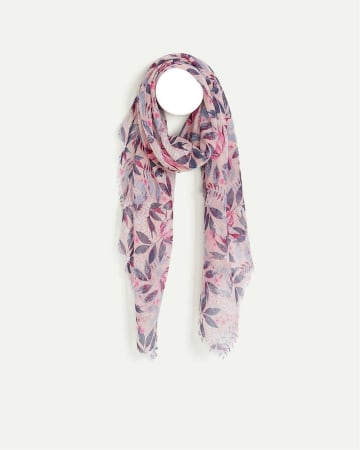 Tropical Leaves Print Scarf